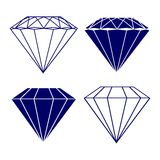 Diamond symbols vector illustration Stock Photo