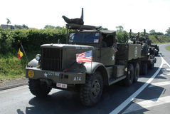 Diamond T truck Normandy 2014. Diamond T truck. Normandy 2014, anniversary D-Day royalty free stock images