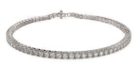Diamond tennis bracelete Stock Photos