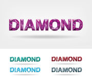 Diamond Text. Diamond-shaped crafted writing work Royalty Free Stock Image