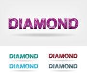 Diamond Text Imagen de archivo libre de regalías