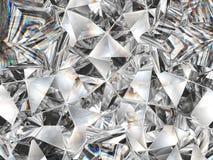 Diamond texture closeup and kaleidoscope Stock Images