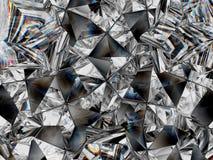 Diamond texture closeup and kaleidoscope stock illustration