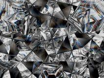 Diamond texture closeup and kaleidoscope vector illustration