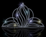 Diamond tiara. Illustration of a diamond tiara. No gradient mesh. Elements are layered separately and labeled vector illustration