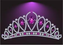 Diamond tiara. With tear-shaped diamonds royalty free illustration
