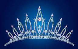 Diamond tiara / vector illustrations Royalty Free Stock Photo