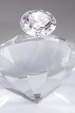 Diamond On Top. Of diamond shape glass.See more diamond images in my portfolio royalty free stock photo