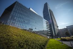 Samsung District, Italian Headquarter, Milan royalty free stock photo