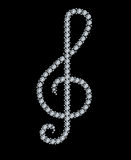 Diamond treble clef Royalty Free Stock Photos