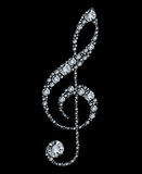 Diamond treble clef. Vector illustration Stock Photo