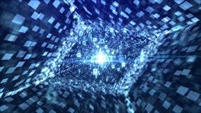 Diamond Tube intelligente nei precedenti blu Immagine Stock Libera da Diritti