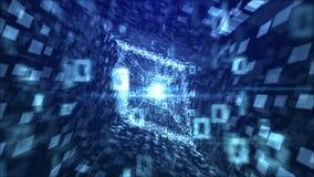 Diamond Tunnel cristallino nel contesto blu Immagine Stock Libera da Diritti
