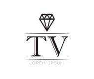 Diamond TV Logo Stock Image