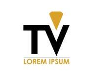 Diamond TV Logo Royalty Free Stock Image