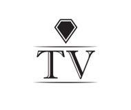 Diamond TV Logo Royalty Free Stock Photo