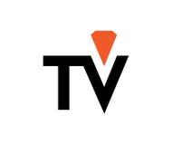 Diamond TV Logo Royalty Free Stock Images