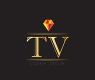 Diamond TV Logo Stock Images