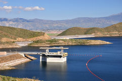 Diamond Valley Lake dam Royalty Free Stock Photo