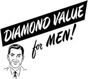 Diamond Value For Men Stockfotos