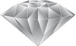 Diamond Vecter. Gray Screen color Diamond vecter cut hand painted using stickers. And design A product logo Stock Images