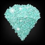 Diamond vector.Crystal gem.White diamond glitter.Diamond isolated Stock Photos