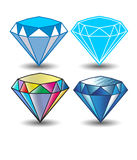 Diamond Vector Icon Royalty-vrije Stock Afbeeldingen