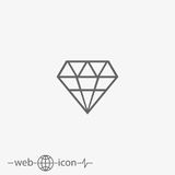 Diamond Vector Icon stock illustratie