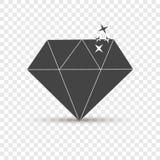 Diamond Vector Icon Rubis de pierre gemme d'icône Couches groupées pour des eas illustration stock