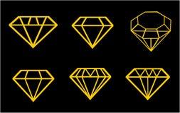 Diamond vector icons set Stock Images