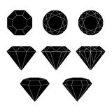 Diamond vector icons set. Royalty Free Stock Image