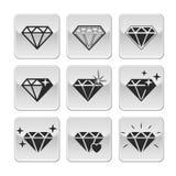 Diamond. Vector icons set on white background royalty free illustration