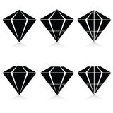 Diamond vector illustration in black Stock Photo