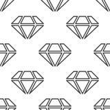 Diamond, vector seamless pattern Royalty Free Stock Image