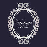 Diamond vintage frame vector Royalty Free Stock Photo