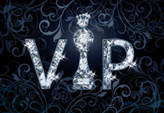 Diamond VIP chess banner Stock Image