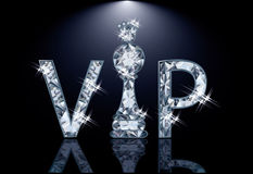 Diamond VIP chess card Stock Image