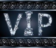 Diamond VIP chess present card Stock Photos