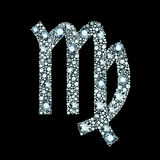 Diamond Virgo Symbol Images stock