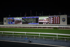 Diamond Vision Television screen на Sha Tin Racecourse Stock Images