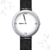 Diamond Watch chic Photographie stock