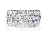 Diamond Wedding Anniversary Band Ring bonito Imagens de Stock