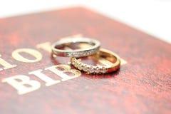 Diamond wedding bands Stock Image