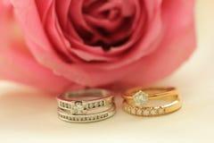 Diamond wedding bands Stock Photos