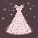 Diamond wedding dress Royalty Free Stock Photography