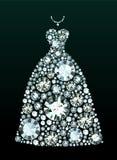 Diamond Wedding Dress Fotografie Stock