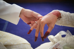 Diamond Wedding Ring Arkivbilder