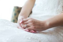 Diamond Wedding Ring Immagine Stock