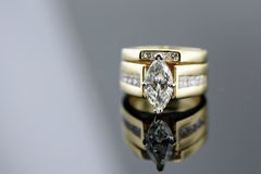 Diamond Wedding Ring Stock Photos
