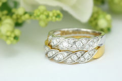 Diamond wedding ring Royalty Free Stock Photography